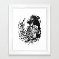 One Armed Gangster Framed Art Print