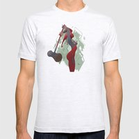PONDERING Mens Fitted Tee Ash Grey SMALL