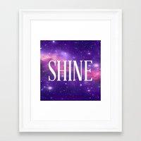 Shine Galaxy  Framed Art Print