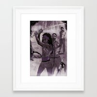 Michonne Framed Art Print
