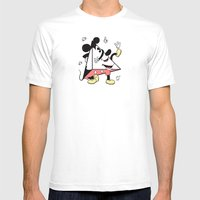 PYRA _ MICKEY Mens Fitted Tee White SMALL