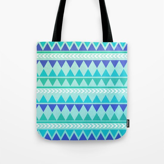 Winter Aztec Pattern Tote Bag