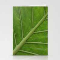 Elephant Ear Leaf Stationery Cards