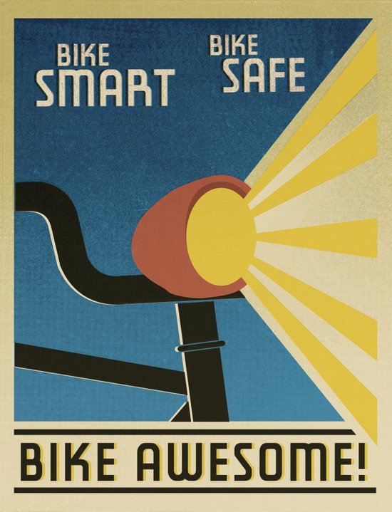 Bike Awesome! Art Print
