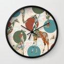 Giraffe Polka Wall Clock