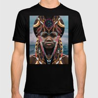 DIVINE OF FORM Mens Fitted Tee Black SMALL