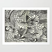 Doodles And Swirls Art Print