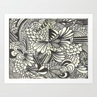 Doodles and Swirls Art Print