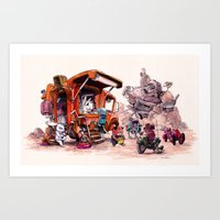 The Support Food Truck Art Print