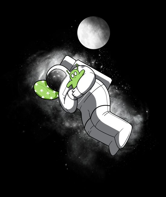 Astro Sleep Art Print