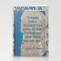 books Stationery Cards featuring Books by Dora Birgis