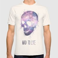 Mad To Live Mens Fitted Tee Natural SMALL