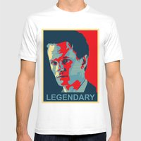 LEGENDARY Mens Fitted Tee White SMALL