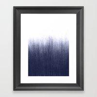 Indigo Ombre Framed Art Print