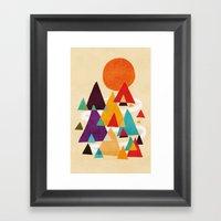Let's Visit The Mountain… Framed Art Print