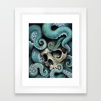 Please my love, don't die so far from the sea... Framed Art Print