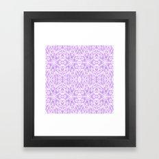 Lavender Floral Pattern Framed Art Print