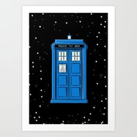 TARDIS in Space Art Print