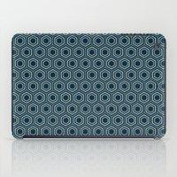 Hexagon Pattern In Blue iPad Case