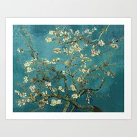 Amendoeira em flor Art Print