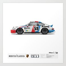 Porsche 1980 911SC Tribute to Brumos Porsche Art Print
