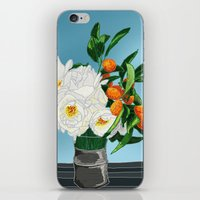 White Roses & Tangerines iPhone & iPod Skin