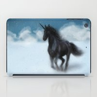 Black Unicorn iPad Case