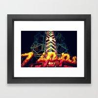 Carnival Lights, The Zipper Framed Art Print