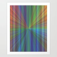 Colourful Rays Art Print
