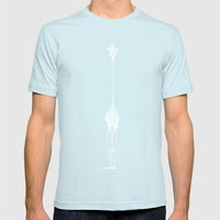 Inverted Raffe Mens Fitted Tee Light Blue SMALL