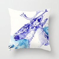 Ciel Boréal (Étude Caribou I) Throw Pillow