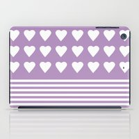 Heart Stripes Orchid iPad Case