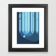 Blue Forest Framed Art Print