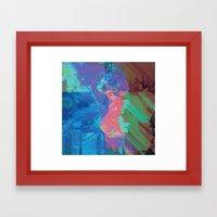 Glitchy 3 Framed Art Print