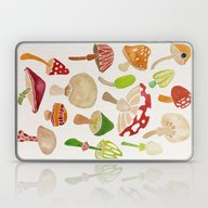 Mushrooms Laptop & iPad Skin