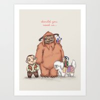 Art Prints featuring Should You Need Us... by Ludwig Van Bacon