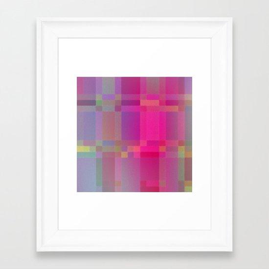 Partial Glow Framed Art Print