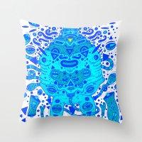 Igen Igen Blue Throw Pillow