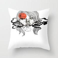 O-Face Throw Pillow