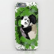 iPhone & iPod Case featuring Cute Playful Panda  by Grapesmithsarts