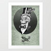 A smart death  Art Print