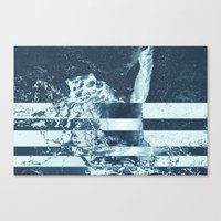 Swell Zone Splatter Ice Canvas Print