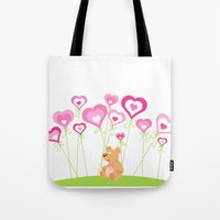 Bouquet of hearts Tote Bag