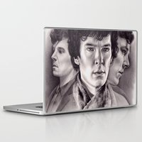 sherlock Laptop & iPad Skins featuring Sherlock by KatePowellArt