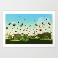 Butterfly Invasion With … Art Print