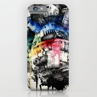 iPhone Cases featuring Howl's Moving Castle by Sandra Inchaurraga
