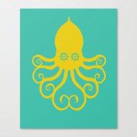 The Kraken Encounter Canvas Print