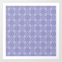 Northern Knot Pattern Art Print
