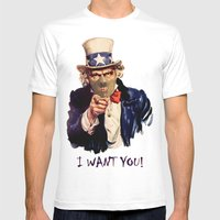 Uncle Sam Mens Fitted Tee White SMALL