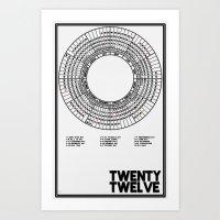 Twenty Twelve Calendar Art Print